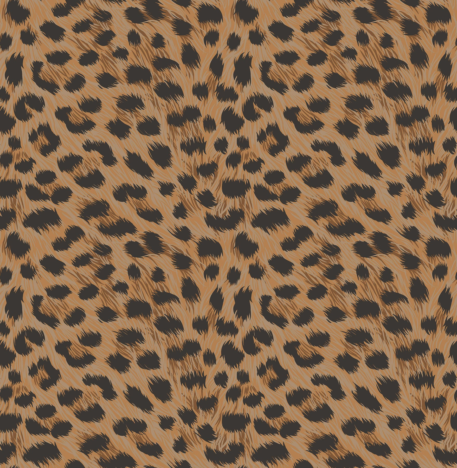 Furs Orange Leopard Wallpaper