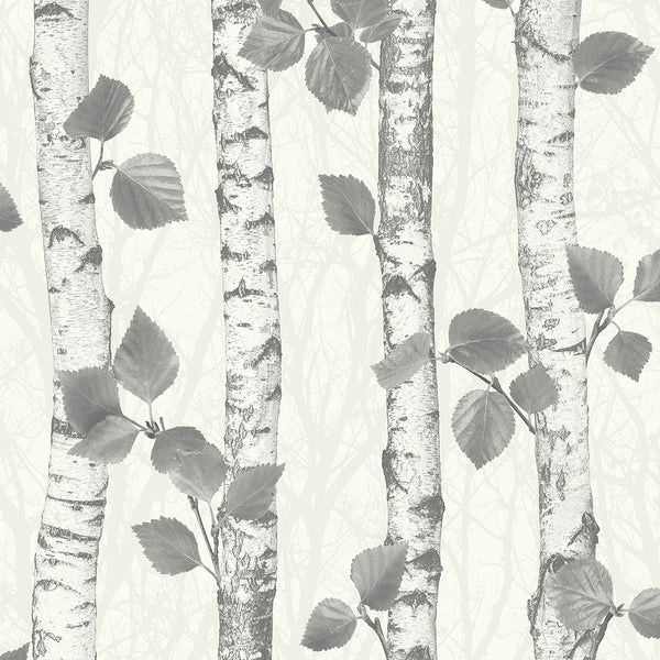 Birchwood Neutral Glitter Wallpaper