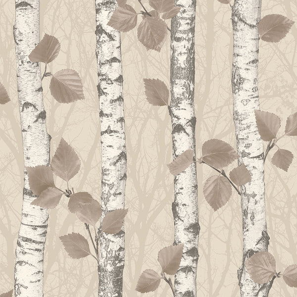 Birchwood Taupe Glitter Wallpaper
