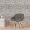 White Rustic Brick Wallpaper