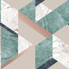 Elvira Green Marble Geometric Wallpaper