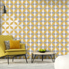 Newby Mustard Geometric Wallpaper