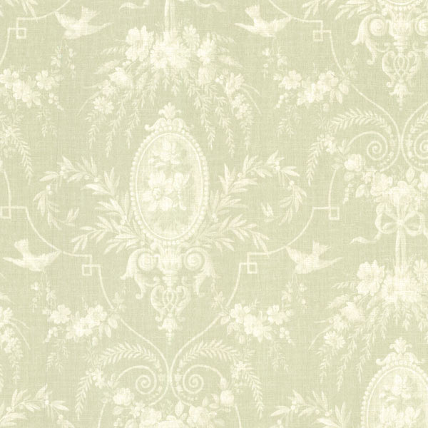Flourish Green Cameo Fleur Wallpaper