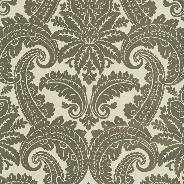 Gold Foil Damask Wallpaper