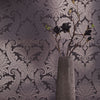 Mauve Foil Damask Wallpaper