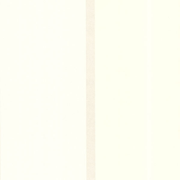 Cream Wide Bar Stripe Wallpaper
