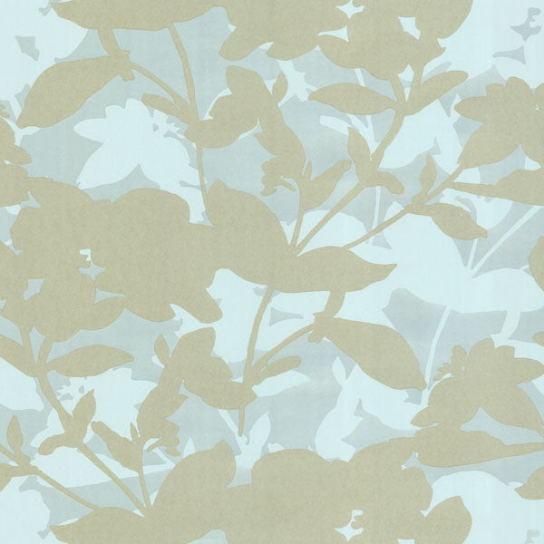 Sage Large Scale Floral Wallpaper