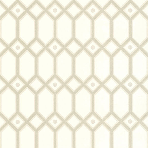 Beige Ironwork Wallpaper
