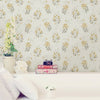 Beverly Yellow Floral Wallpaper