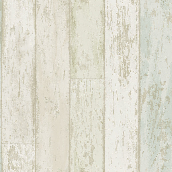 Alston Aqua Wood Wallpaper