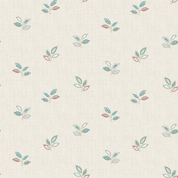 Leigh Coral Leaf Wallpaper