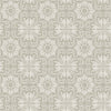 Hessle Grey Floral Wallpaper
