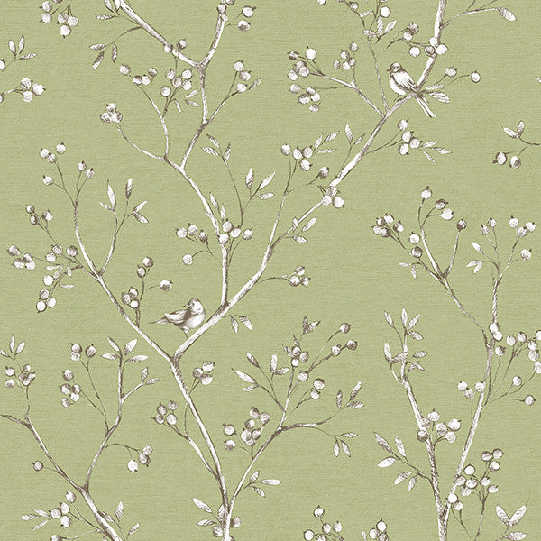 Tadley Sage Branch Wallpaper