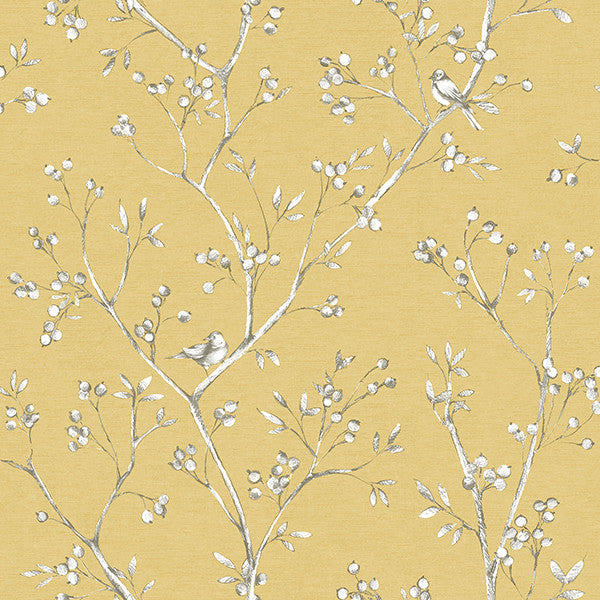 Tadley Yellow Branch Wallpaper