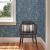 Tadley Blue Branch Wallpaper