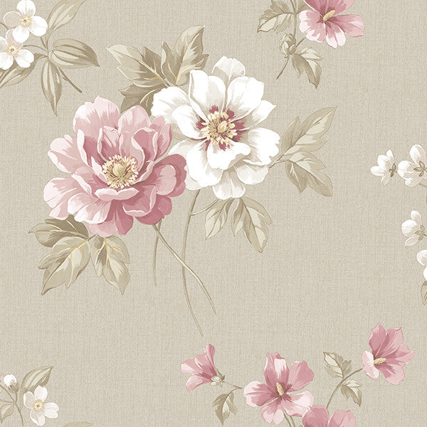 Keighley Pink Floral Wallpaper