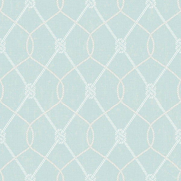 Tradewinds Aqua Trellis Wallpaper