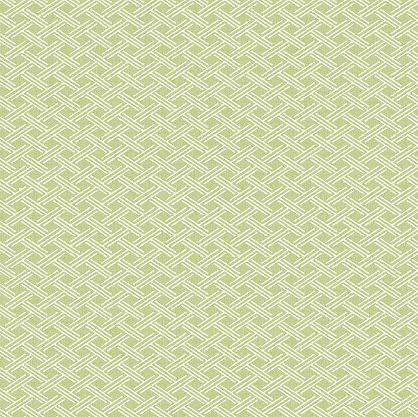 Sweetgrass Green Lattice Wallpaper