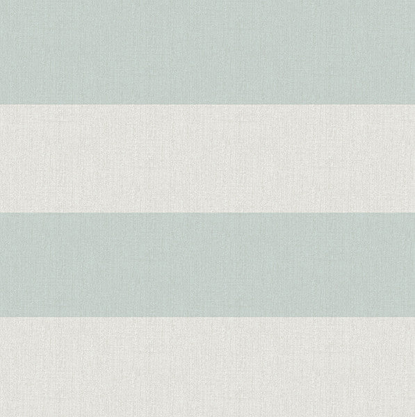 Awning Aqua Stripe Wallpaper