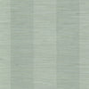 Oakland Aqua Faux Grasscloth Stripe Wallpaper