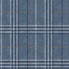 Rockefeller Navy Plaid Wallpaper
