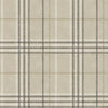 Rockefeller Beige Plaid Wallpaper