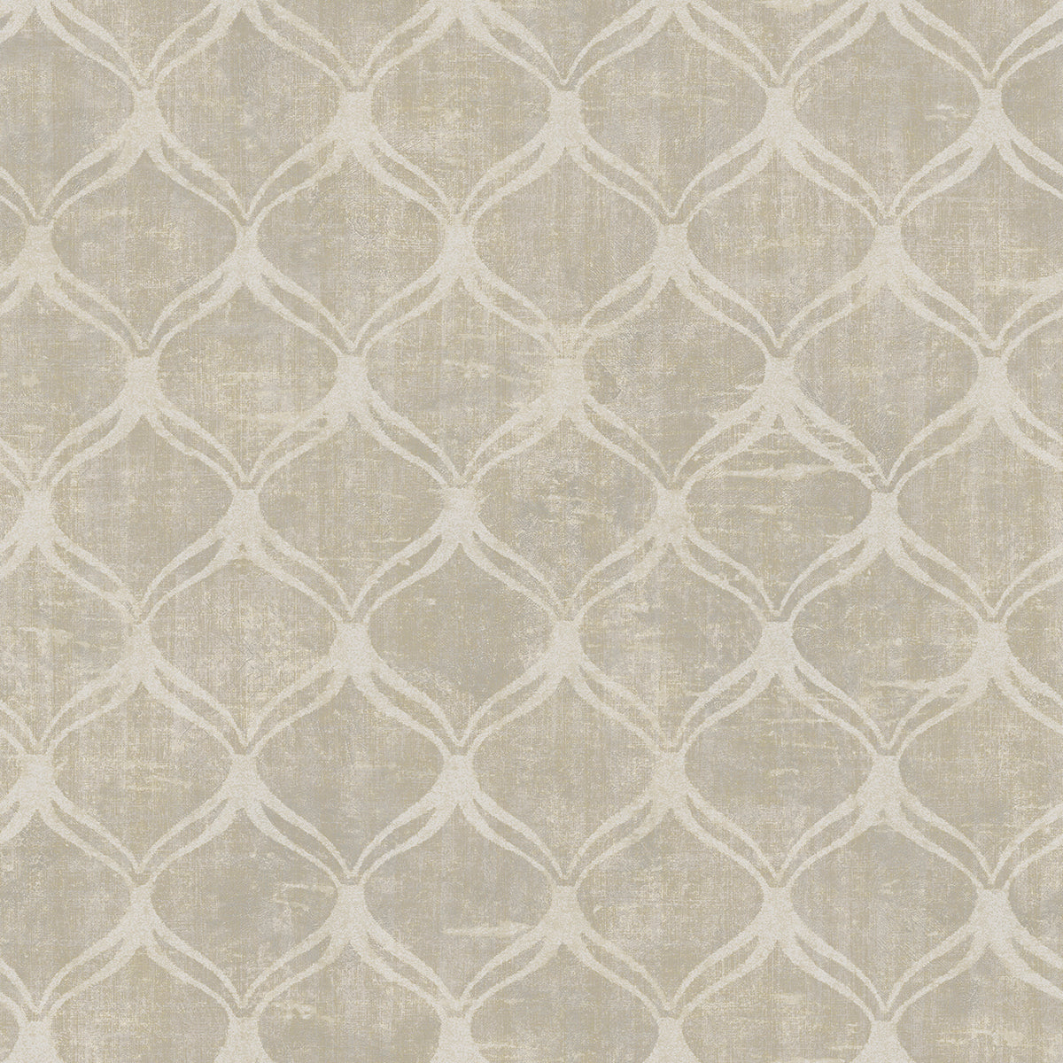 Bowery Taupe Ogee Wallpaper