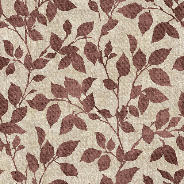 Gramercy Park Red Leaf Wallpaper