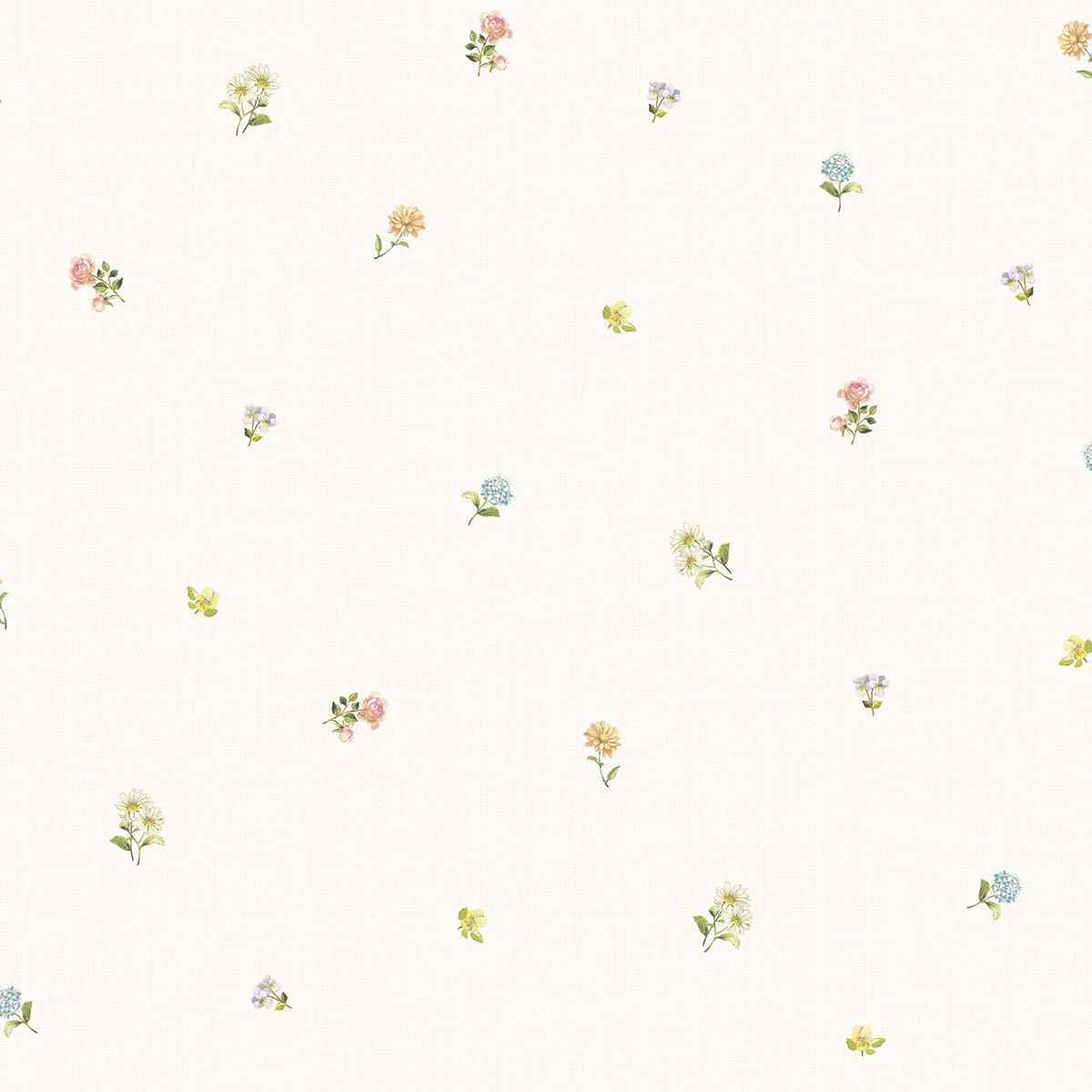 Bloom Toss Multicolor Floral Wallpaper