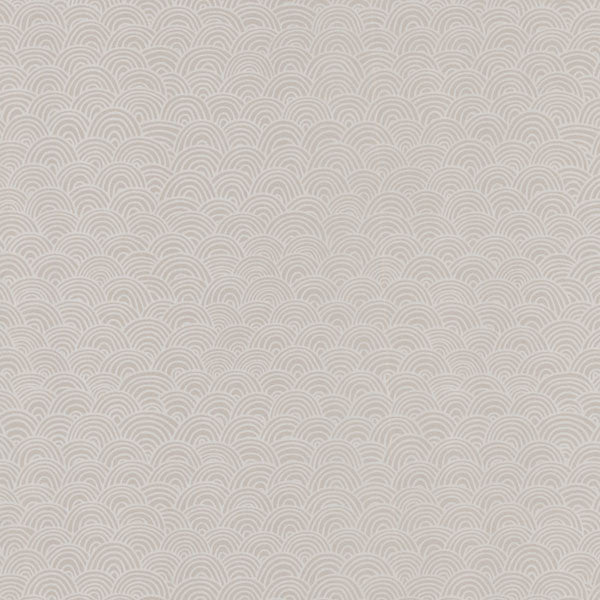 Beige Wave Geometric Wallpaper