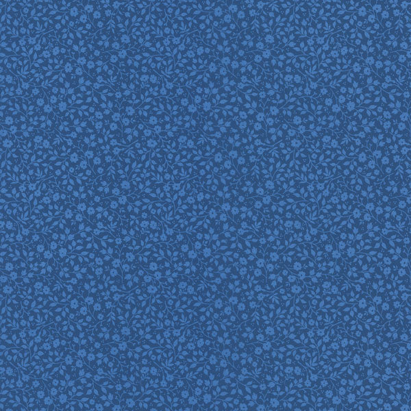 Blue Mini Floral Toss Wallpaper