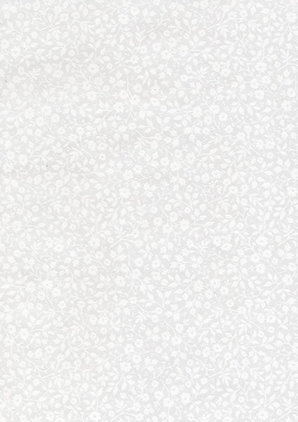 White Mini Floral Toss Wallpaper