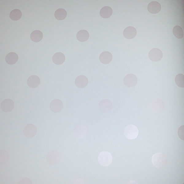 Light Pink Polka Dots Wallpaper
