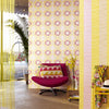 Valencia Yellow Ikat Floral Wallpaper