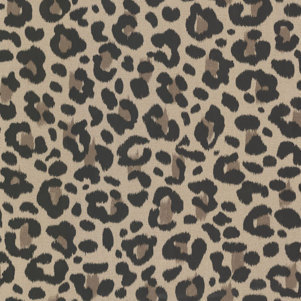 Talamanca Brown Abstract Leopard Wallpaper