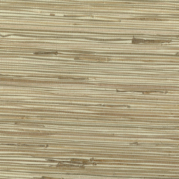 Cala Lena Beige Native Grasscloth Wallpaper
