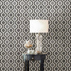 Marina Black Modern Geometric Wallpaper