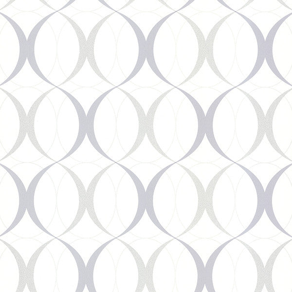 Rosten Grey Retro Orb Wallpaper