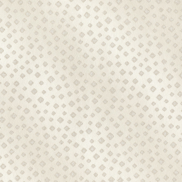 Edna Champagne Beaded Squares Wallpaper