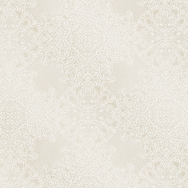Linkin Cream Scroll Medallion Wallpaper