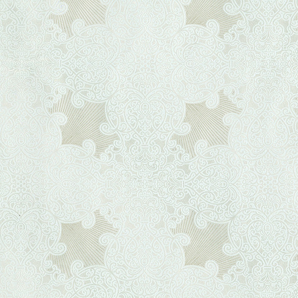 Linkin Mint Scroll Medallion Wallpaper