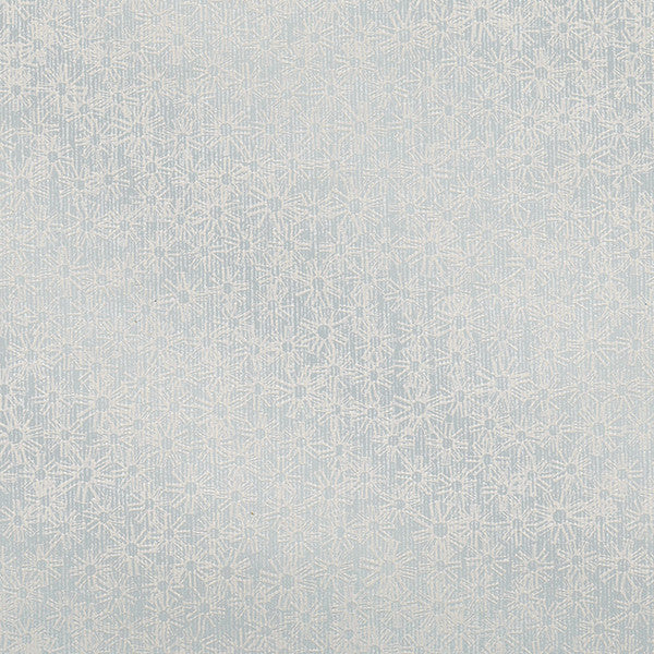Janie Light Blue Metallic Floral Wallpaper