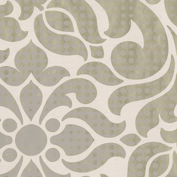 Leanne Gold Metallic Dot Medallion Wallpaper