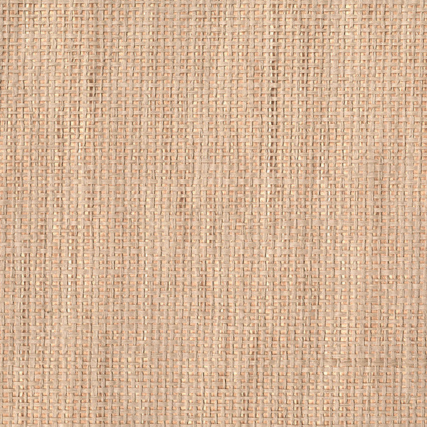 Aimee Rose Gold Grasscloth Wallpaper
