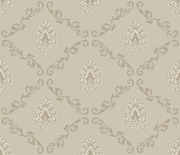 Acharnes Taupe Damasks