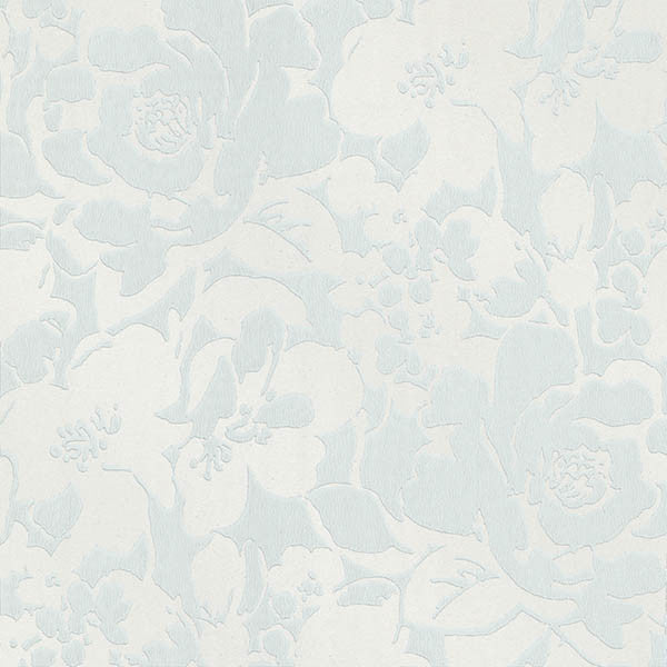 Eccentricity Light Blue Damask Wallpaper