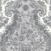 Magella Light Grey Damask Wallpaper