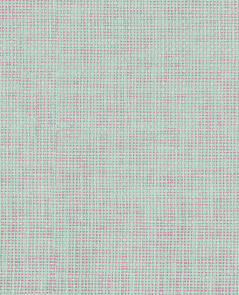 Anya Mint/Pink Paper Weave Wallpaper