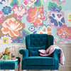 Blue English Country Floral Dream Wall Mural