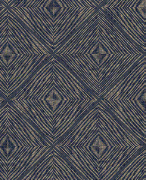 Aries Navy Geometric Wallpaper
